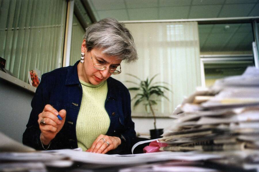Anna Politkovskaya at Novaya Gazeta