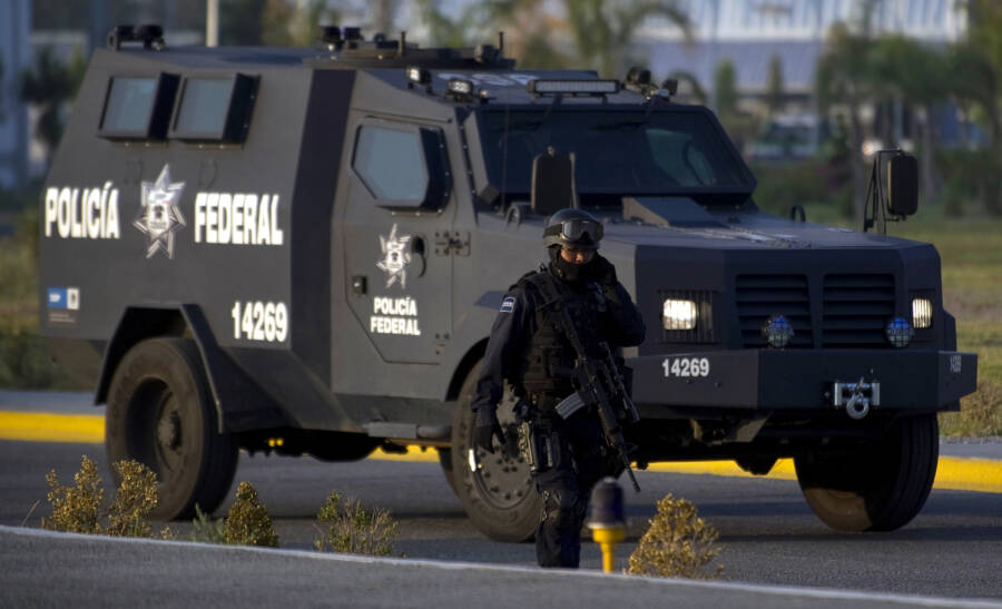 Armored Mexican Police Vehicle