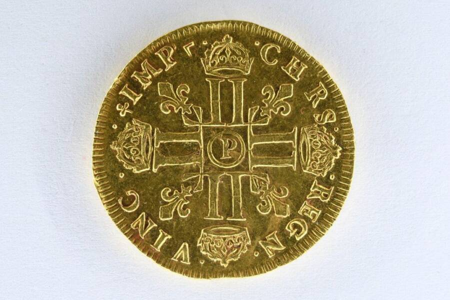 Back Side Of Double Louis Coin