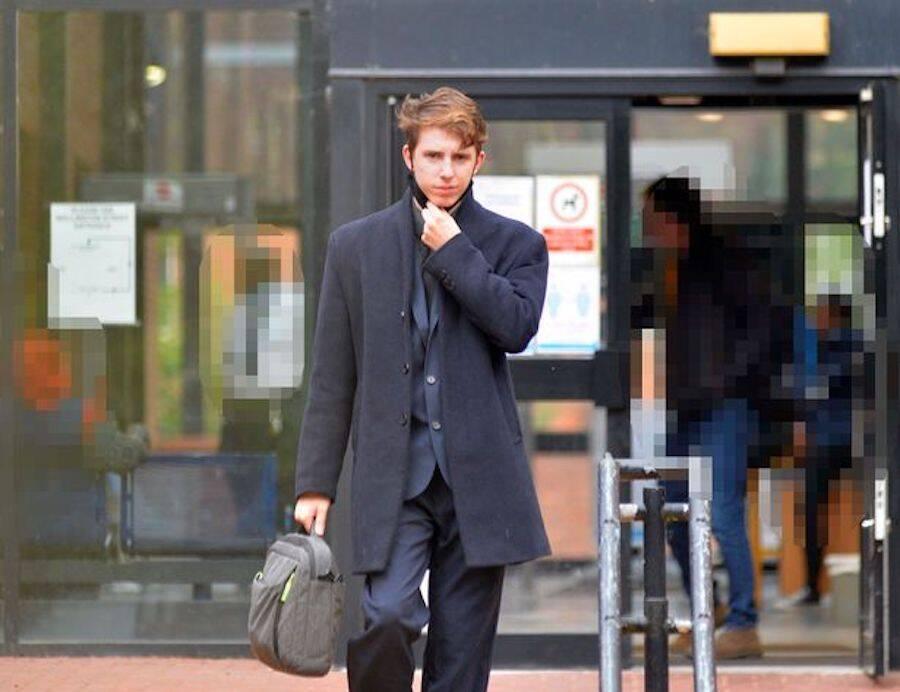 Ben John Leaving Leicester Crown Court