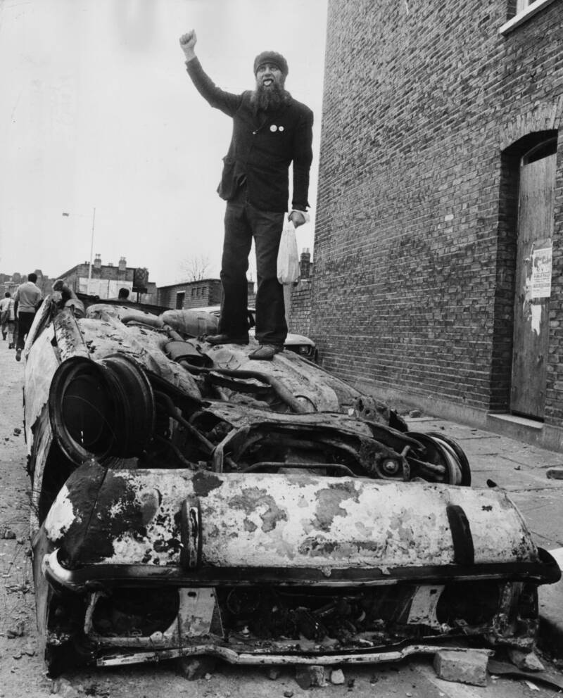 Black Power Symbol During The Brixton Riots