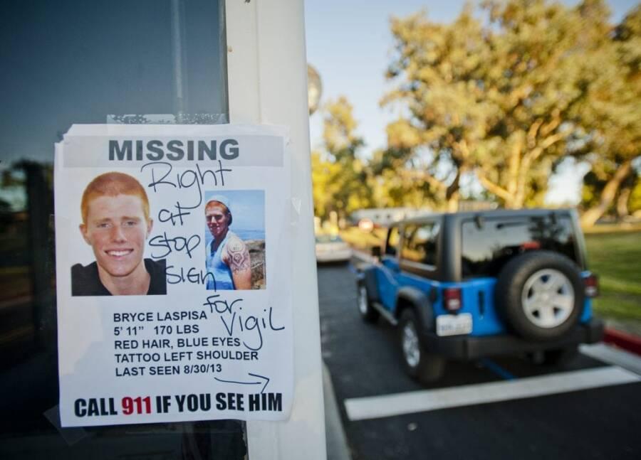 Bryce Laspisa Missing Poster