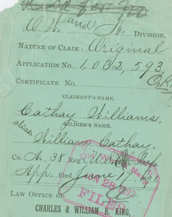 Cathay Williams Pension