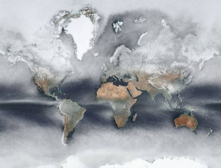 Cloud Cover World Map
