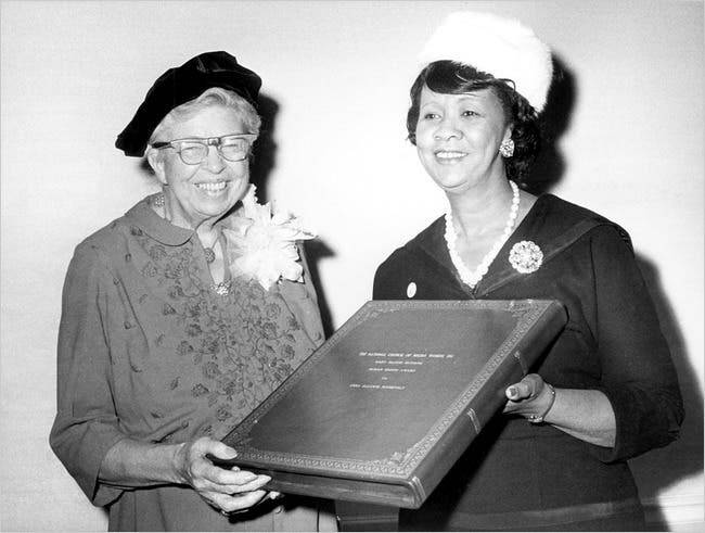 Dorothy Height And Eleanor Roosevelt