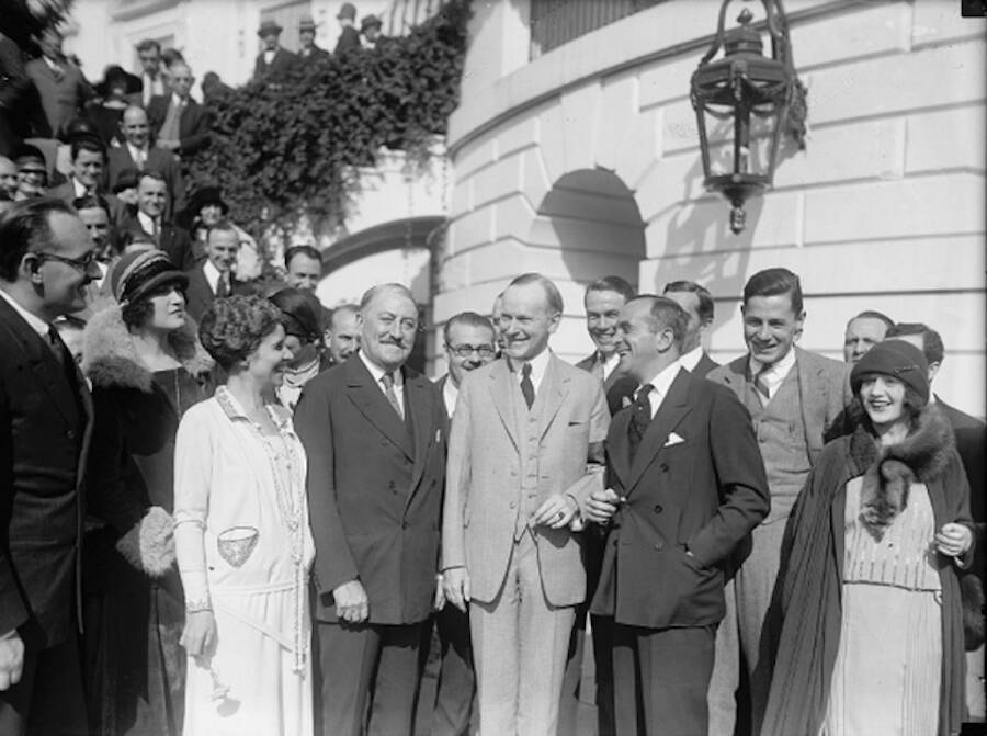 Edward Bernays With President Coolidge