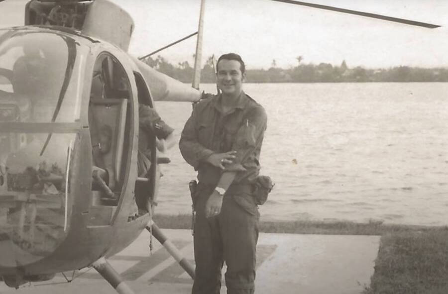 Felix Rodriguez And His Helicopter