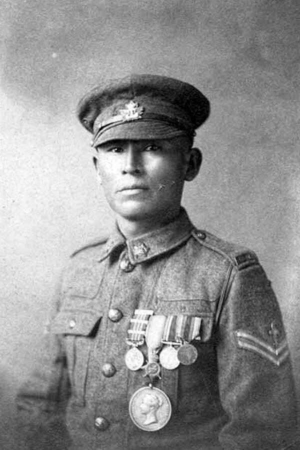 Francis Pegahmagabow In Uniform