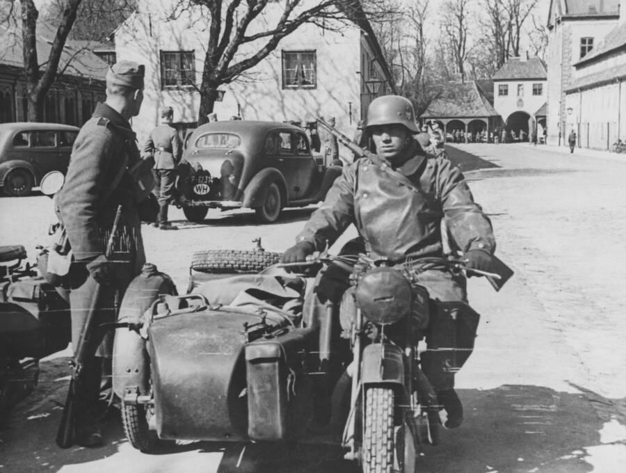 German Soldiers In Copenhagen