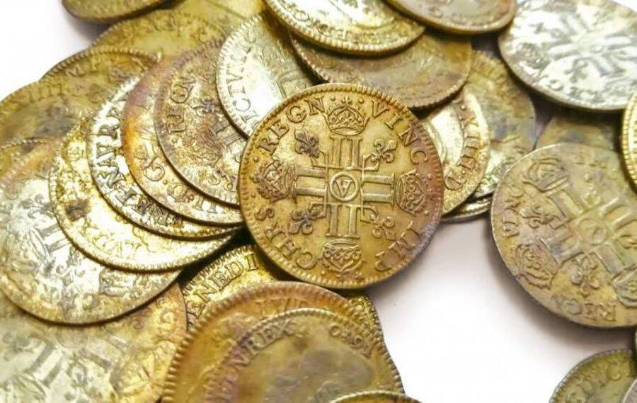 Gold Coins From French Mansion