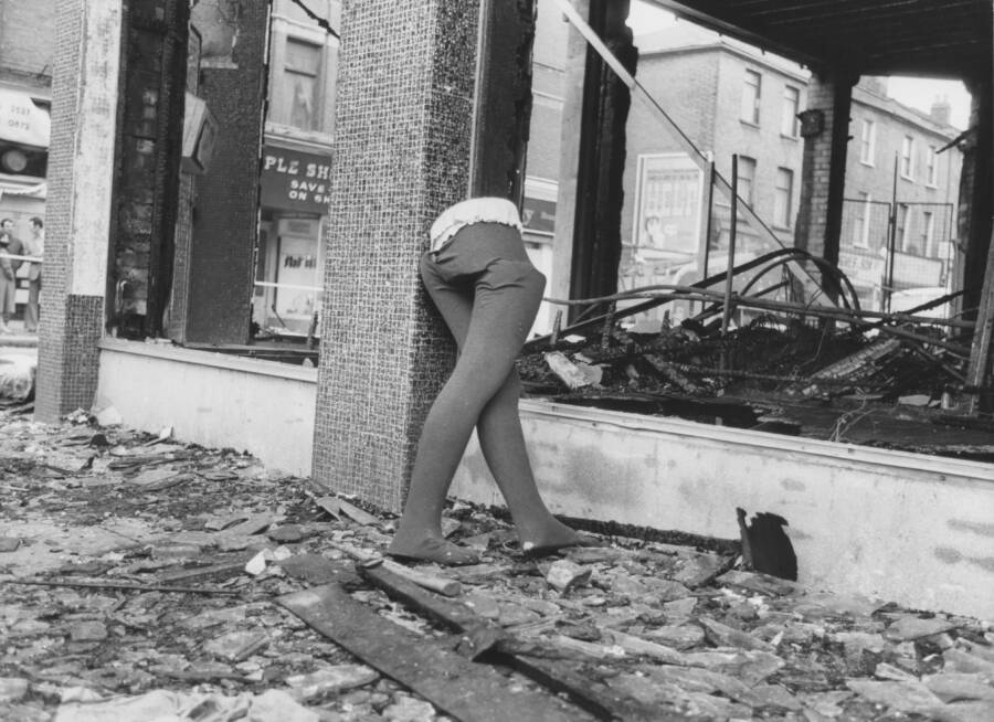 Mannequin And Destroyed Store