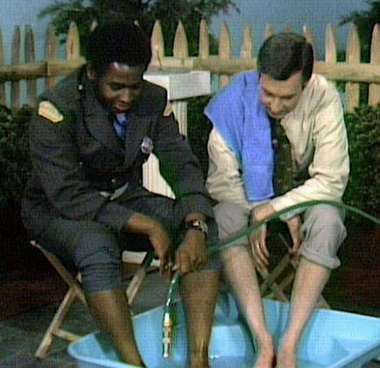 Mister Rogers Filling His Pool