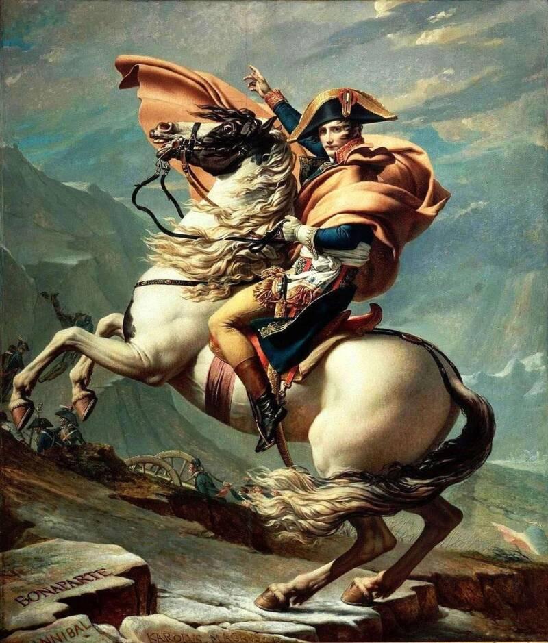 Napoleon Bonaparte Horseback