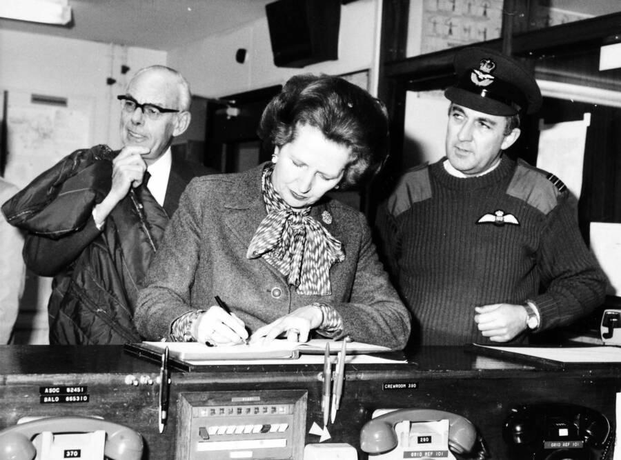 Thatcher Visiting Northern Ireland