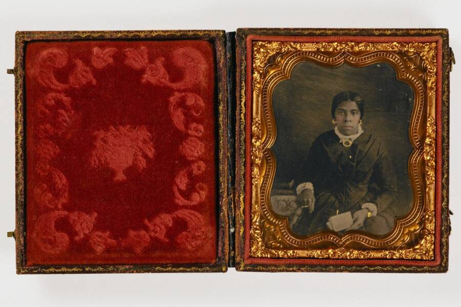 Untitled Ambrotype Woman With Book