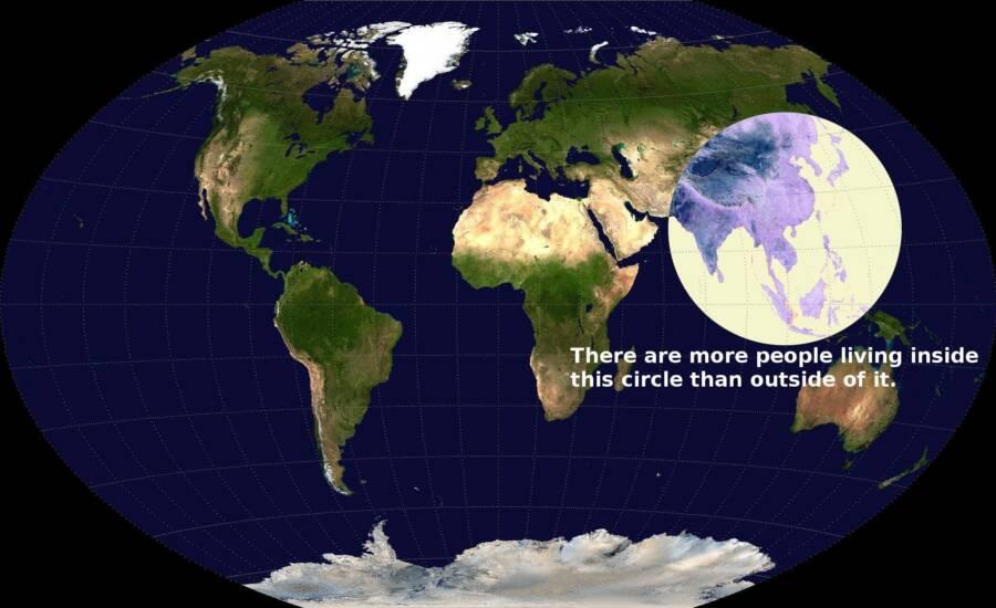 World Population Distribution Map