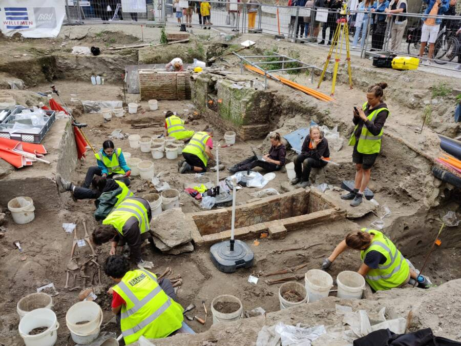Excavation At Cathedral In Bruges