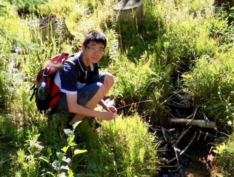 Researcher Qianshi Lin In The Field
