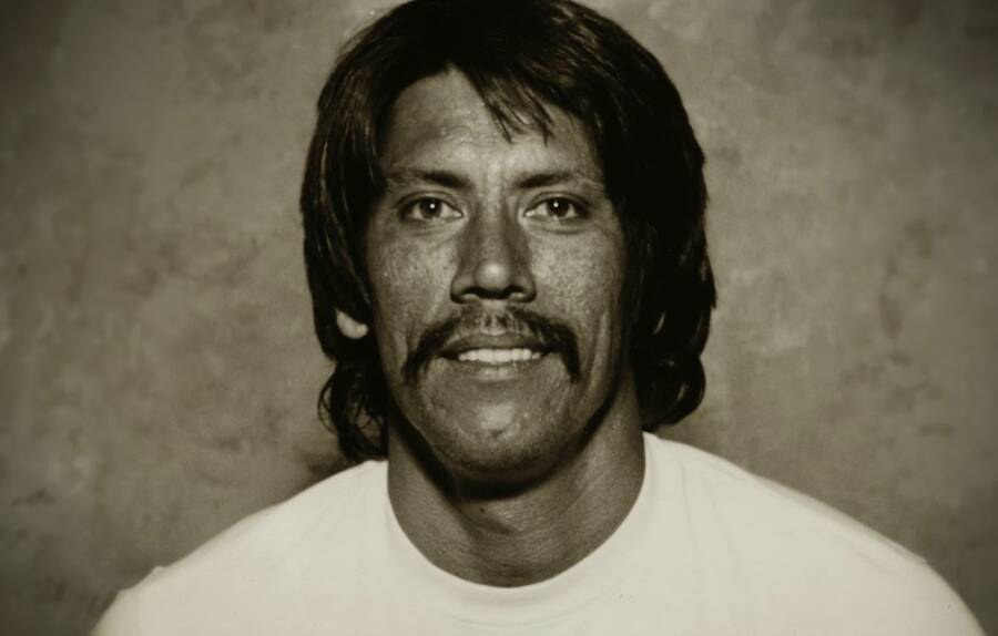 Young Danny Trejo Posing For A Portrait